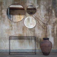 Notre Monde | Bronze Mirror - Large - 20605 - Heavy aged mirror - wooden frame