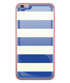Look at this Nautical Stripe & Neon Red Glow Gel iPhone Skin on #zulily today!