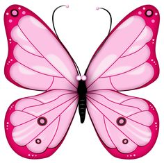 Pink Transparent Butterfly Clipart
