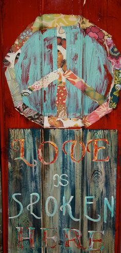 Peace and Love by artbylorilynn on Etsy,
