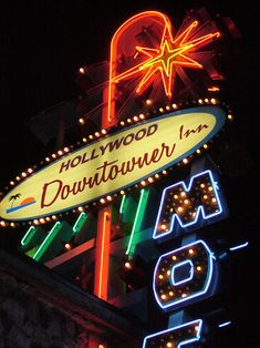Marino took this photo of the Downtowner Motel Neon Sign in Los Angeles CA