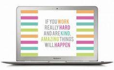 FREEBIE: WORK HARD, BE KIND DESKTOP WALLPAPER via Holly Would