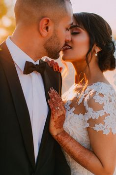 Golden hour light just makes the most romantic wedding photos! Romantic Wedding Photos, Most Romantic, Beautiful Moments, Wedding Venues, Glamour, Indian, Bride, Golden Hour, Wedding Things