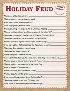 Fun Christmas Party Games, Xmas Games, Christmas Games For Family, Holiday Games, Holiday Fun, Christmas Holidays, Holiday Trivia, Christmas Activities For Families, Christmas Ideas