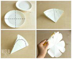 Paper plate flower tutorial!