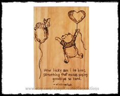 WINNIE the POOH and PIGLET How lucky am I to by CreatedConcoctions