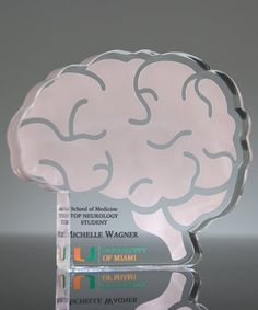 Our Custom Brain Paperweight Award is ideal to honor your top performers U Of Miami, Custom Awards, Paper Weights, Brain, Student, Logo, Usa, Prints, Products