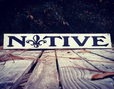 Native Fleur-de-lis New Orleans Louisiana French Rustic Vintage Shabby Chic farmhouse  pallet sign Fleur de lis FREE SHIPPING