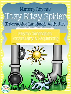 Itsy Bitsy Spider Nursery Rhyme Activity Pack for speech & language therapy by TeachingTalking.com