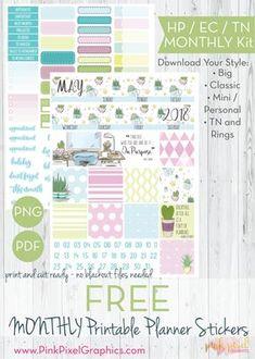 Joy Silver Glitter Specks Flags Printable Planner Stickers JPGPNGSilhouette Cut Files