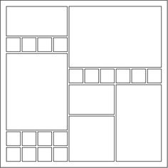 Mosaic Moments Page Pattern 96 - Two Column Design with Six Focal Spots Scrapbook Frames, Disney Scrapbook Pages, Scrapbook Layout Sketches, Scrapbook Templates, Travel Scrapbook, Scrapbook Paper Crafts, Scrapbooking Layouts, Scrapbook Cards, Picture Layouts