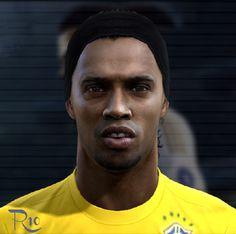 Ronaldinho face for Pro Evolution Soccer 2012