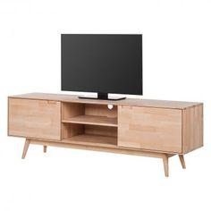 TV-Lowboard Finsby - Buche massiv