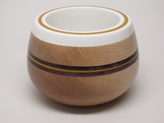 Hard Maple Bowl with White Resin.