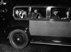 Oct. 19, 1967 - London, England, U.K. - The BEATLES last night attended the world premiere of the film 'How I won the war', at the London Pavilion. Beatle JOHN LENNON stars in the film. The picture shows PAUL MAcCARTNEY, JANE ASHER, GEORGE HARRISON and wife PATTIE BOYD going home after the premiere.