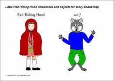 Little Red Riding Hood cut-out characters (SB3450) - SparkleBox