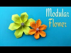 How to make a easy paper Modular Flower for Mothers Day - Origami Tutorial, My Crafts and DIY