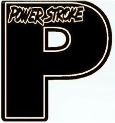 Powerstroke window logo