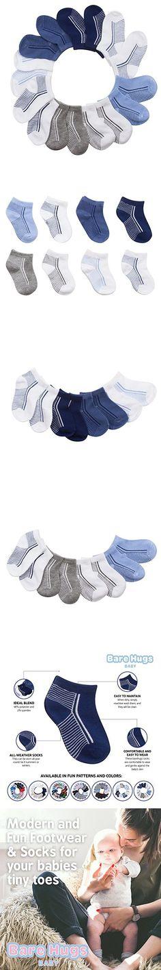 BARE HUGS 10-Pack Boy and Girl Baby Socks for Infant and Toddler Toddler Socks