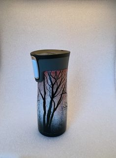 A personal favorite from my Etsy shop https://www.etsy.com/listing/481568838/snowy-woods-to-go-cup