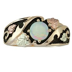 Opal Cabachon Black Hills Gold Ring