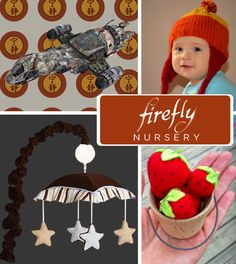The war may have ended before they were born, but your infant can still aim to misbehave as a Browncoat. 20, yes TWENTY, geek themes for a nursery. Pinned and ready for that day.