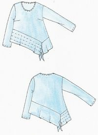Like the angles and topstitching. Pulli Goa - SUSANN DI For idea only