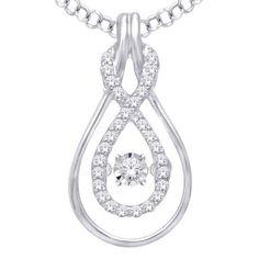 Color G-H Clarity I1-I2 Wickersham Closeouts 10K White Gold 1//20 Cttw Diamond Cross Pendant