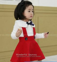 I would make the skirt hit the floor but love the suspenders!!!  So cute and appropriate for a little girl running about.  The collar is so adorable too!  Love it all.
