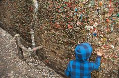 Around the World: Special Places You've Never Heard Of - The Market Theater Gum Wall is a local landmark in downtown Seattle, in Post Alley under Pike Place Market