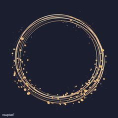 Gold circle frame on a black background vector | free image by rawpixel.com / Minty Black Backgrounds, Wallpaper Backgrounds, Moños Tattoo, Doodle Frames, Apple Watch Wallpaper, Instagram Background, Framed Wallpaper, Circle Logos, Instagram Highlight Icons