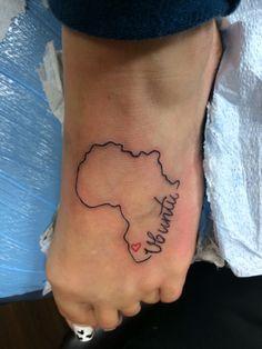 Heart for South Africa Tattoo #ubuntu #tattoo #africa
