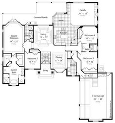 2755 sq ft The Oleander II House Plans First Floor Plan - House Plans by Designs Direct.