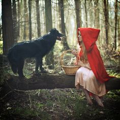 little red riding hood- real life photo shoot Little Red Ridding Hood, Red Riding Hood, Brothers Grimm, Big Bad Wolf, Red Hood, Werewolf, Fantasy Art, Fairy Tales, Creatures