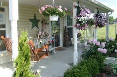 Graceful Rose: My Little Yellow Cottage Porch