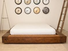 clocks      Reclaimed Wood Platform Bed