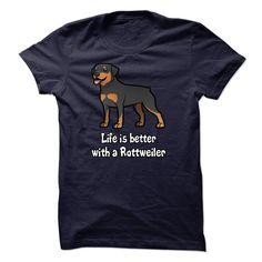 Rottweiler T-Shirts, Hoodies. CHECK PRICE ==► https://www.sunfrog.com/Pets/Rottweiler--K02.html?id=41382