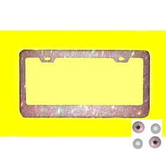 Black w Pink  LICENSE plate frame Qty 1 Ministry of Magic Authorized Muggle