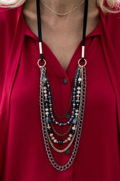 Our Multi Strand Necklace featured on my blog today  - GET 15% OFF TODAY ONLY WITH CODE FS118 PLUS FREE US SHIPPING www.jacketsociety.com