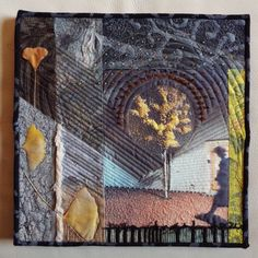 done by Jill Kerttula; the glory of the Ginko tree! #art quilt, #fiber art, #textile art