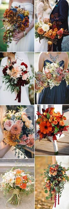 fall wedding bouquets ideas for all brides