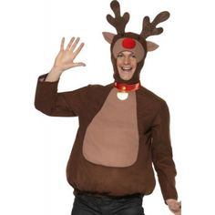 Rudolph the Red Nosed Reindeer Top - Mens Costumes - Fancy Dress - Christmas
