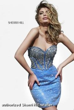 Sherri Hill - 11165 sparkles, bling, rhinestones, crystal, beaded cocktail dress perfect for prom or homecoming, at Miss Priss