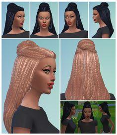 Braid Bun female at Birksches Sims Blog via Sims 4 Updates