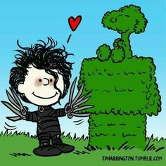 (Edward Scissorhands, Charlie Brown, and Snoopy. Snoopy Love, Meu Amigo Charlie Brown, Charlie Brown Und Snoopy, Snoopy And Woodstock, Snoopy Frases, Snoopy Quotes, Peanuts Cartoon, Peanuts Snoopy, Totoro