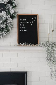 Holiday letterboard- merry christmas you filthy animal! Christmas Quotes For Kids, Christmas Signs, Christmas Humor, Merry Christmas, Christmas Decorations, White Christmas, Felt Letter Board, Felt Letters, Felt Boards