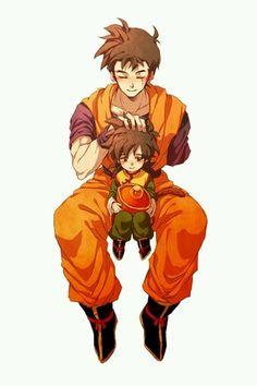 The Son family: Photo Dragon Ball Z, Mirai Gohan, Manga Anime, Anime Art, Z Warriors, Db Z, Anime People, Cool Drawings, Fan Art