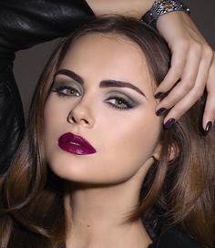 Xenia Deli looks stunning in Dark Romance Autumn Makeup 2016. #RockandRomance #Xenia4isadora #xeniaDeli