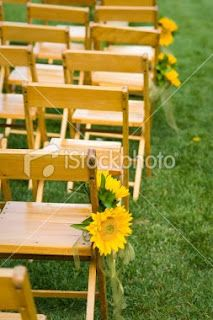 sunflowers on chairs