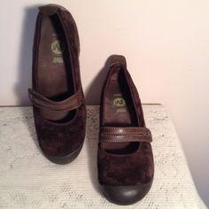 Merrell Ortholite Plaza Bandeau Chocolate Brown Performance Mary Jane Shoes SZ 8 #Merrell #MaryJanes